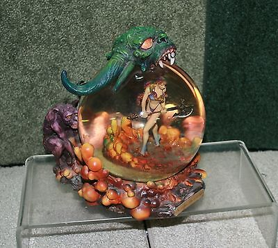 Boris Vallejo & Julie Bell Guardians Fantasy Collectible Snow Globe Demons Woman