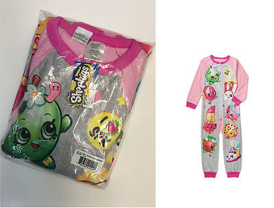 License shopkins ONE PIECE BLANKET SLEEPER PAJAMA SLEEP SET Girls kids 4 5 6 7 8