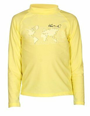 Giallo (Yellow) (TG. 134 cm) iQ UV 300 Shirt Youngster maniche lunghe, protezion