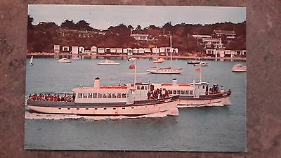 postcard 1970s sorrento ferries boats bathing boxes houses Victoria Australia