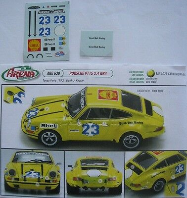 PORSCHE 911 S n° 23 TARGA FLORIO 1972 BARTH DECAL 1/43e