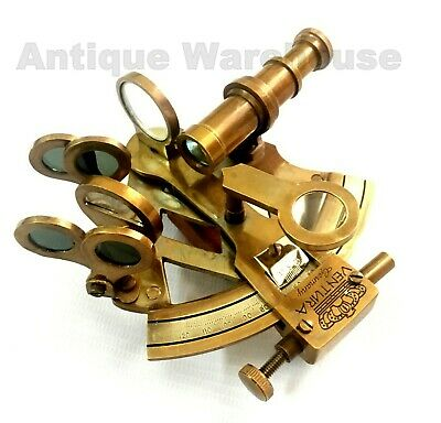Nautical Antique Brass Sextant Vintage Marine Sextant Gift By Antique Warehouse