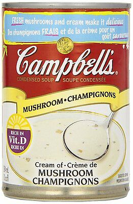 Campbell's Cream of Mushroom Soup, 284 ml (Pack of 12)  063211026832