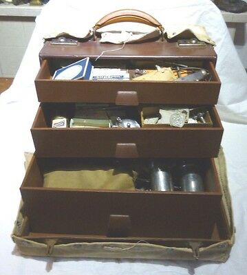 VINTAGE 1940 50's 90+pc DOCTORS MEDICAL SURGEONS FIELD KIT case by DOWN BRO's