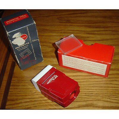 Vintage Micoette Deluxe Hand 35 mm photography Slide Viewer battery operate