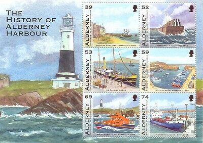Alderney Harbours min sheet mnh Ships/Vessels/Lighthouses mnh