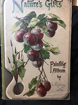 ANTIQUE~1800'S CATHERINE KLEIN BOTANICAL~Nature's Gifts Painting Album~FRUIT