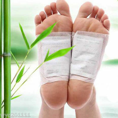 10 Sticky Adhesives 100x Detox Foot Pads Patch Natural plant Toxin Removal
