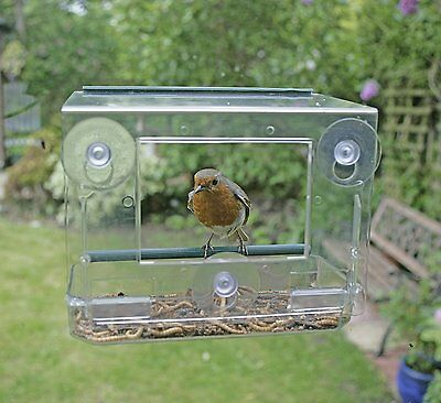 RSPB Window Bird Feeder Box Garden Patio Watching Wild Birds Feed Seeder Food