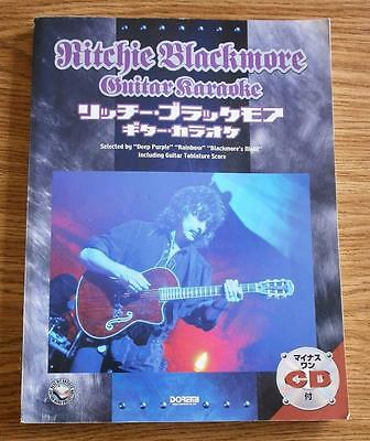 Ritchie Blackmore ( Deep Purple RAINBOW ) KARAOKE Japan Guitar Tab Book w/ CD