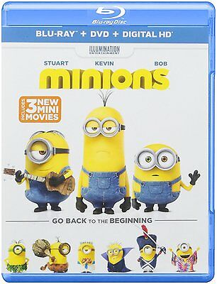 Brand New -- Minions -- Blu-ray + DVD + Digital HD Ultraviolet -- 2 Discs