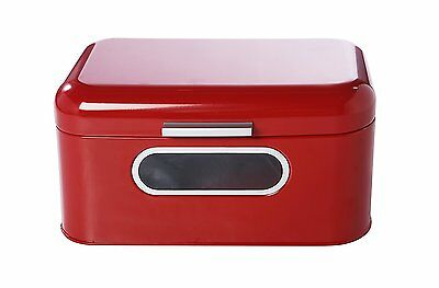 Juvale Red Vintage Kitchen Essential Bread Box Loaves Patries Durable Container