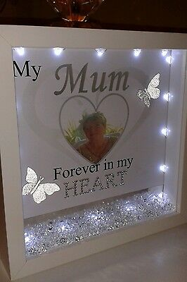 Personalised frame with photo & lights in memory of a loved one