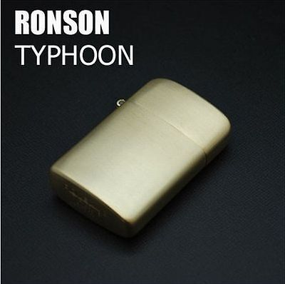 RONSON CLASSIC DESIGN Cigarette OIL Lighter TYPHOON R30-0003