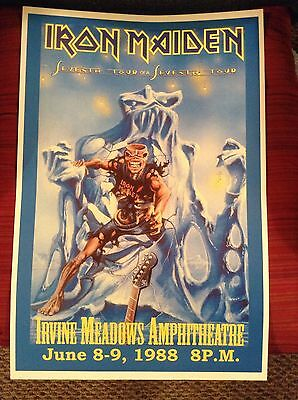 IRON MAIDEN-SEVENTH TOUR OF A SEVENTH TOUR POSTER 12x18 (RP)