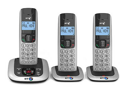 BT 3520 Trio Digital Cordless Phone with Answer Machine New Boxed