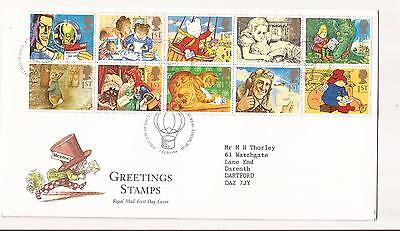 GB Greeting characters stamps First Day Cover Edinburgh Bureau Postmark
