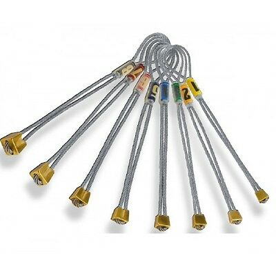 ROCK EMPIRE Brass Chock - Set of 8  durable and reliable climbing stoppers