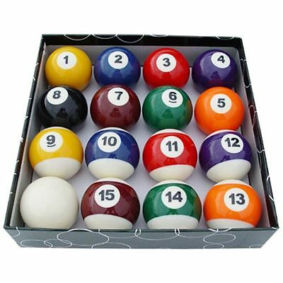 2 1/4Inch Spots and Stripes American Pool Balls