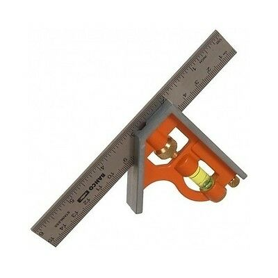 Square Sliding Combination Center Ruler Tool Bahco 150 mm / 6 inch