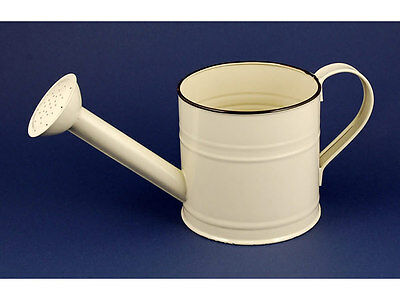Vintage watering can cream enamel wedding pot wholesale bankrupt clearance stock