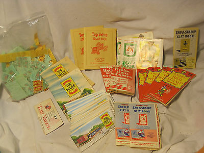 vintage lot 38 books + Top Value Stamps stamp saver grocery store Holden S& H