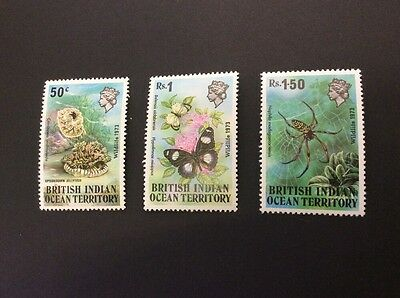 British Indian Ocean Territory SG53/5 - Wildlife 1973  - MNH - Unmounted Mint
