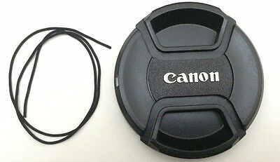 Lc-77 77Mm Canon Eos 70D 700D Snap-On Centre Pinch Front Lens Cap Cover Uk Stock