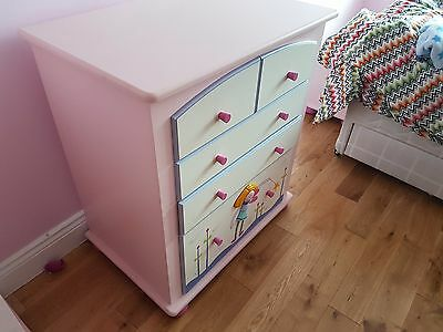 Hand Painted Heather Spencer Funky Fairies Chest of Drawers Designer Child