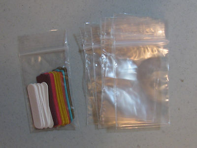 Clear Ziploc Reclosable Bags  Lot of  25 Goodie Bags