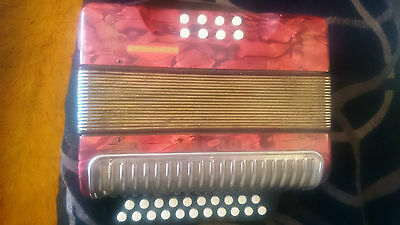 HOHNER ERICA Button Accordion VINTAGE