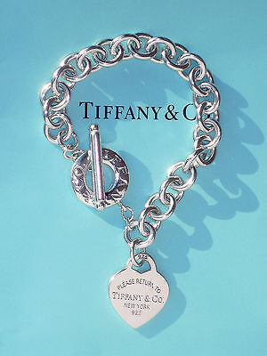 Tiffany & Co Sterling Silver Return To Tiffany Heart Toggle Bracelet