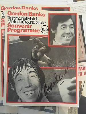 SIGNED GORDON BANKS TESTIMONIAL PROGRAMME with free signed 10x8 photo fr £22