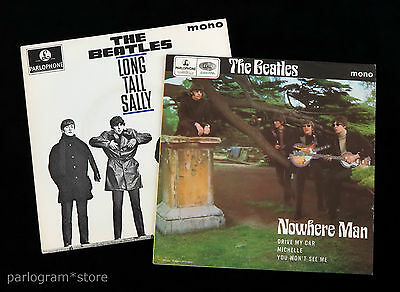 The Beatles - Nowhere Man + Long Tall Sally - 2 x UK 4-Track p/s Reissue EPs