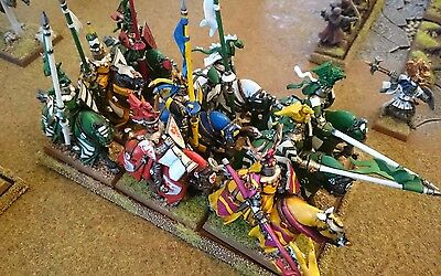 Warhammer Fantasy AOS Bretonnian Army well painted with trays #2