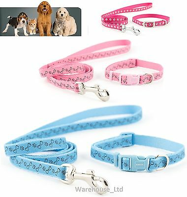 Ancol Small Bite Puppy / Small Dog Collar and Lead Sets Set Fully Adjustable