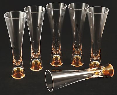 Veuve Clicquot Champagne Trendy Picnic Flutes X 6 Boxed Acrylic Not Glass!!!