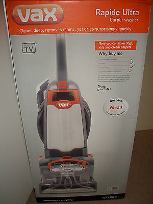 New Vax W90-RU-B Rapide Ultra Upright Carpet And Upholstery Washer