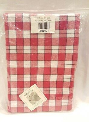 Longaberger Picnic Plaid Tablecloth - Cotton - 116 x 52 - NEW in Original Bag