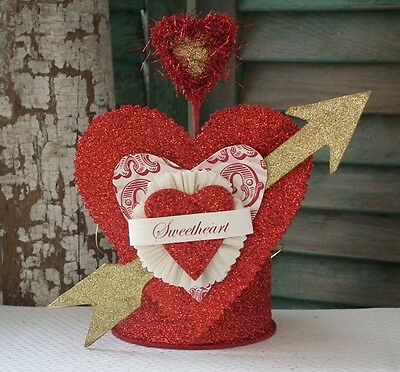 DEE FOUST Assemblage ~SMALL VALENTINE NEST CROWN CONTAINER~ Retired & NWT!