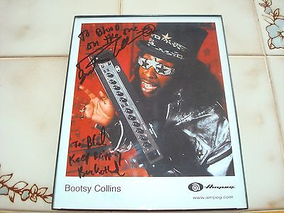 Bootsy Collins~Autographed~Promo~Colored~Picture~Ampeg~No~C.o.a.