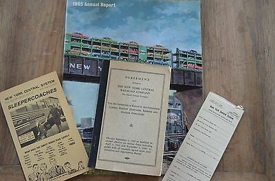 Vintage New York Central Railroad reports/ papers/ ephemera LOT OF 4 items