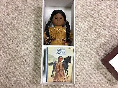 American Girls collection Kaya with a Book & Box Retired 1st Edition Collectible