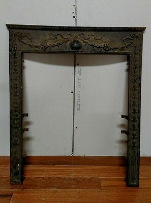 Reclaimed Antique Victorian Cast Iron Fireplace Surround. Shell Motif. #3