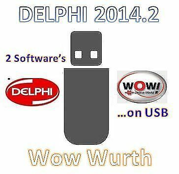 Wow Wurth + Delphi  VEHICLE DIAGNOSTIC SOFTWARE  =on USB DRIVE=