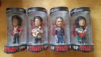 The Rolling Stones Set of Four Bobbleheads-Jagger,Watt,Wood and Richards