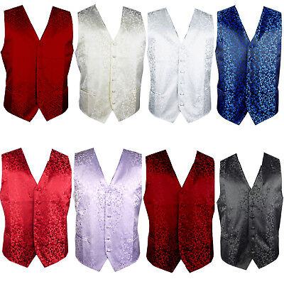 New Jacquard Waistcoat - Various colours and Designs - 8 Sizes and 9 Designs