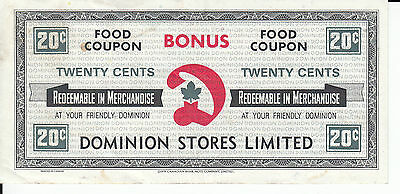 Canada Dominion Food Coupon  20 Cents English only