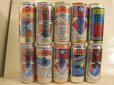 Old Style 16 oz collectors beer cans