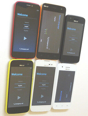 Lot of 6 BLU GSM Unlocked Dual Sims Smartphones (Mixed Models) AS-IS GSM